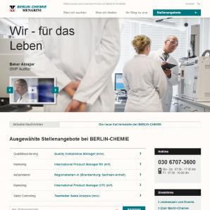Karriereportal der Berlin Chemie AG
